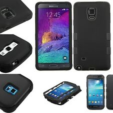 For Samsung Galaxy Black Hybrid Rubber Hard Rugged Protective Case Cover