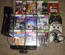 Xbox 360 250GB With Kinnect Three Controllers And Ten Games