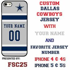 Custom Dallas Cowboys Phone Case Cover w Your Name & Jersey # Apple iPhone 4 & 5