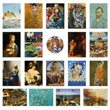 Greatest Art Masterpieces 2, Gogh, Klimt, Dali Wall Decor Print Posters  A3,A4