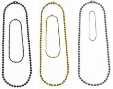 """Military Dog Tag Ball Chains YOU GET 2 Chains (4.5"""" & 24"""")  8387-8384-8394"""