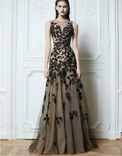 New Black Applique Party Formal Evening Ball Prom Cocktail Dresses Wedding Gown