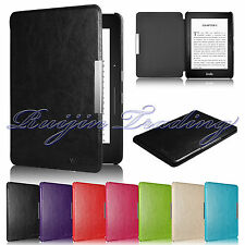 Book Flip PU Leather Magnetic Smart Case Cover For 2014 Amazon Kindle Voyage
