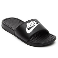 MENS NIKE BENASSI JDI SLIDE SANDAL WHITE BLACK 343880-090