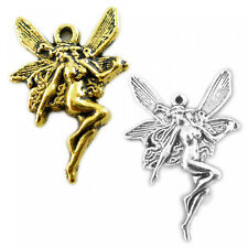 5 pendant Fairy 15 x 21mm silver gold Angel Pixie Charms Girls pendant