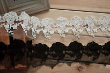 3yards*7cm width wedding lace ribbon, DIY embroidered floral lace trim