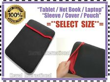 """Tablet Netbook Laptop Sleeve Cover Pouch Case for 7, 8, 10, 12, 14, 15.6 inch """""""