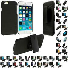 Matte Black Hard Rugged Slim Case Cover with Removable Belt Clip Holster