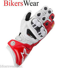 Alpinestars GP Pro Leather K-Tech Gloves Red / White  NEW 2013 Size M L or XL