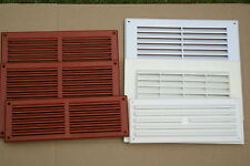 White, Terracota Air Vents, Ventilation Ducting Brick Wall Grille Cover