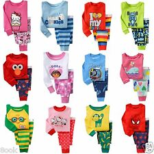 NEW Cotton Sleepwear Pajama Sets for Baby Toddlers Kids Boys Girls, Size 1T~6T