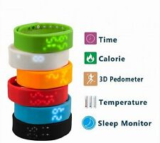 Wristband Bracelet Sports Exercise Sleep Health Fitness Tracker Watch Colorful