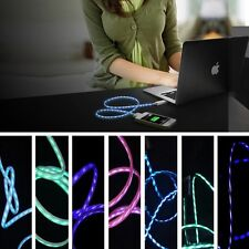 Flowing LED Light Up Visible Current Flow Smart Charger Cable For iPhone 4