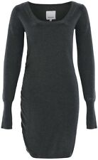 Bench Hooked B Long Sleeve Knitted Dress Dark Grey Marl - S, M, L