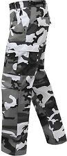 H.W. City Camouflage 6-Pocket Military Poly/Cotton BDU Cargo Fatigue Pants 7881