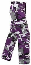 Ultra Violet Camouflage 6-Pocket Military Poly/Cot BDU Cargo Fatigue Pants 7925