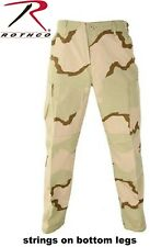 Tri-Color Desert Camo 6-Pocket Military Poly/Cotton BDU Cargo Fatigue Pants 9815
