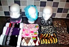 ROCK JOCK SNOOD SCARF or EAR WARMER, FLEECE FAIR-ISLE LADIES GIRLS £2.99 - £3.75