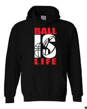 """NEW MEN PRINTED """"BALL IS LIFE"""" FUNNY Hooded Jacket Pullover Hoodie Sweat Shirt"""