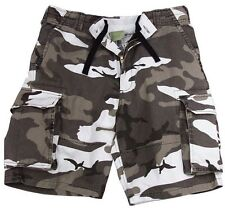 City Camouflage Military Vintage Army Paratrooper Shorts Cargo Shorts 2155