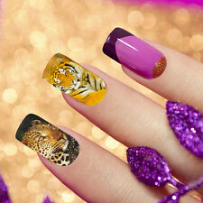 Special  Water Transfer leopard Animal Print Full Nail Art Decal Wrap Stickers