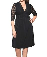 Women Cocktail Black Lace Sweetheart Dress Size 12 14 16 18 20 22 24 NEW  Plus