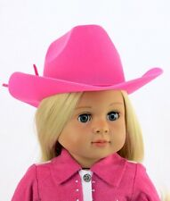 """Doll Clothes AG 18"""" Western Cowgirl Hat Hot Pink Made To Fit American Girl Dolls"""