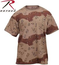 Desert Camouflage chocolate chip Tactical Military Short Sleeve T-Shirt 6767