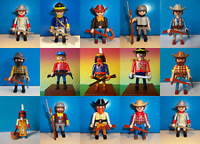 PLAYMOBIL WESTERN FIGURES  COWBOY UNION SOUTH INDIAN NORTH CONFEDERATION