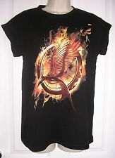 Ladies OFFICIAL THE HUNGER GAMES CATCHING FIRE T SHIRT TOP UK 6 - 20 Primark