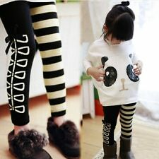 Girl Kids' Cute Clothing Outfit Panda Pattern Pullover and Stripped Legging