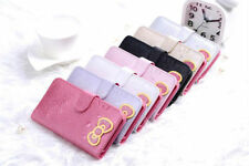 NEW HelloKitty Leather wallet pouch case Cover Skin For iPhone 4 4S 5 5S AA1101