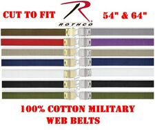 Military Web Belts Cotton Pants Belt Army, Navy, Marine, Air Force, USMC