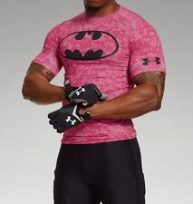 Rare Men's Under Armour Alter Ego Batman Power in Pink Compression Shirt NWT