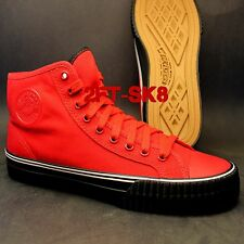 PF FLYERS by NEW BALANCE CENTER HI FORMULA 1 RED BLACK CASUAL SNEAKERS SHOES