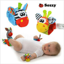 Baby Infant Soft Toy Wrist Rattles Foots finders Developmental Sozzy socks