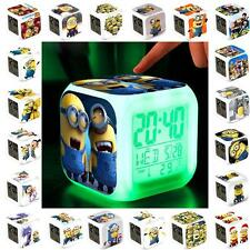 2014 New Despicable Me 2 Minions LED Color Flash Digital Alarm Clocks Kids Gifts