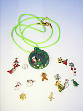 Christmas Wish Assorted Colour Circle Living Memory Locket For Floating Charm