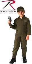 Kid's Flight Suit Air Force Flight Suit Coveralls Olive Drab Green 7200