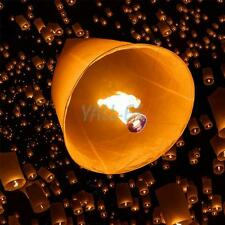 100x Multiple Color Wishing Paper Lanterns Chinese Paper Fly Sky Candle Wedding