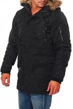 JACK & JONES - UNION PARKA JACKET - schwarz - Herren Winterjacke - NEU