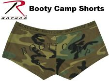 Women's WOODLAND CAMO Military Booty Shorts  Army Casual Lounging Shorts 3476