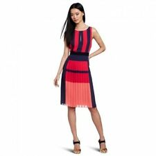 | NEW | BCBG JEISA ruby red combo pleated dress $298 NQR6U513 | XS, S, M