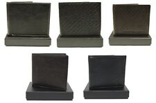 MENS WALLET FCUK FRENCH CONNECTION DESIGNER BLACK & BROWN COLOURS PRICE £14.99