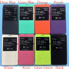 Window Leather Flip Smart View Battery Cover for Samsung Galaxy Note 3 III N9000