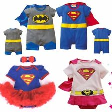 Chicos Chicas Baby Gro Super Héroe Mameluco Traje Funky Outfit Fancy Dress Costume Regalo