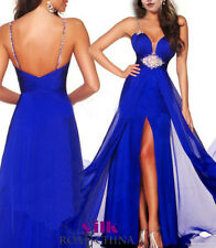 2016 Sexy Long Chiffon Party Prom Cocktail Evening Dress Formal Ball Gowns 6-16