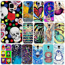 Colorful Painted Phone Hard Skin Case Cover For Samsung Galaxy S4 i9500 S5 i9600
