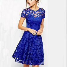 New Fashion Summer Floral Lace Sexy Women dress casual vestidos Party Dress