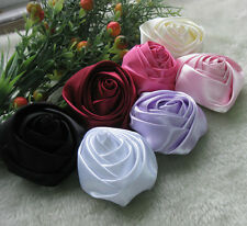 7x Large Big Satin Ribbon Rose Flower Bow Craft/ DIY/Wedding/Appliques A917